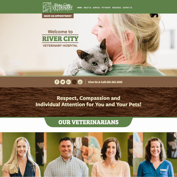 Animal Hospital Website Example